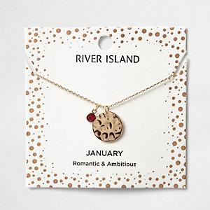 Halskette mit dem Geburtsstein des Monats Januar