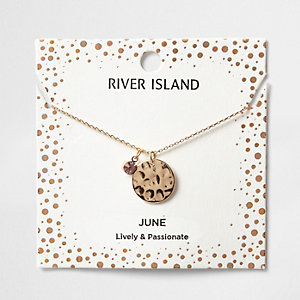 Halskette mit dem Geburtsstein des Monats Juni
