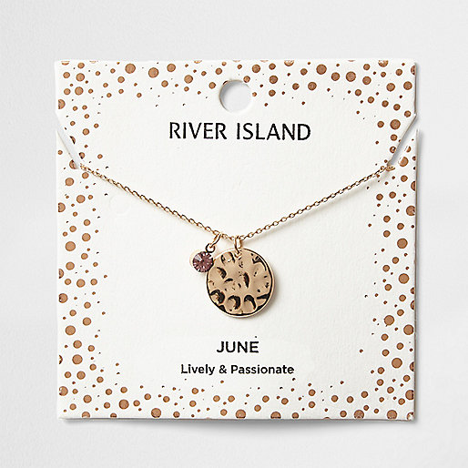 Light purple June birthstone necklace