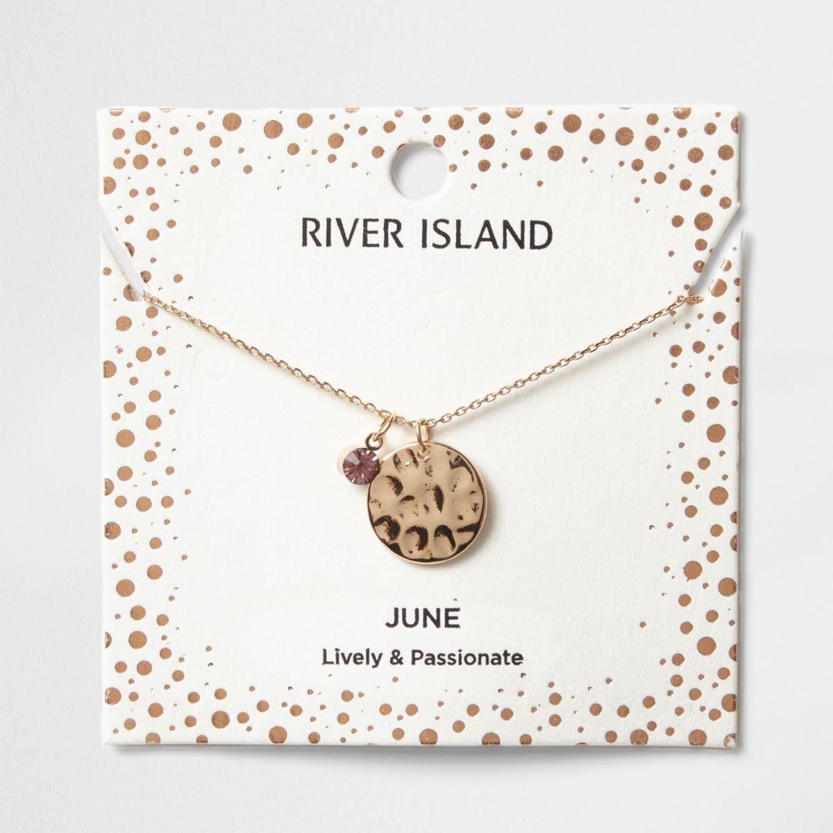 Light purple June birthstone necklace