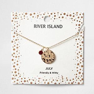 Red gem July birthstone necklace