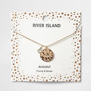 Collier avec pierre de naissance mois d'août