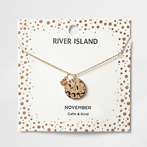 Orange gem November birthstone necklace