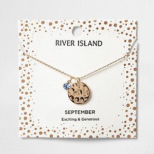 Halskette mit dem Geburtsstein des Monats September