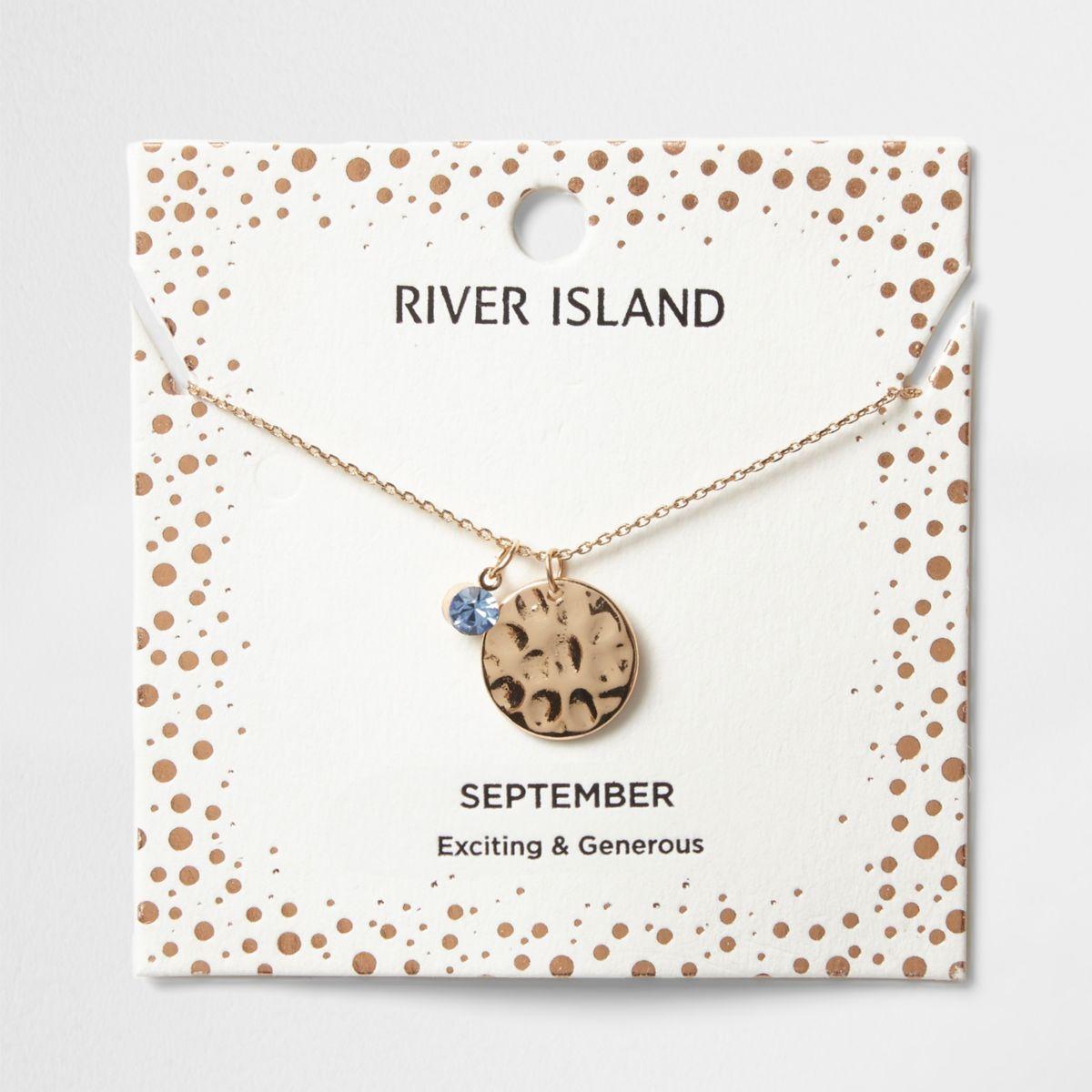 Light blue gem September birthstone necklace