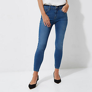 Amelie – Blaue, superenge Skinny Jeans