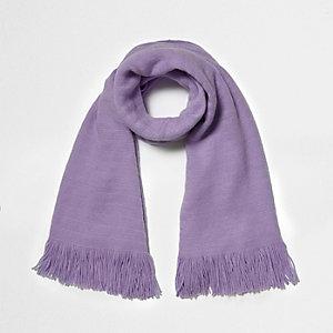 Écharpe façon couverture violet clair