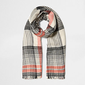 Orange check scarf