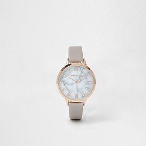 Plus grey marble face watch