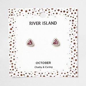 Clous d'oreilles avec pierre de naissance mois d'octobre