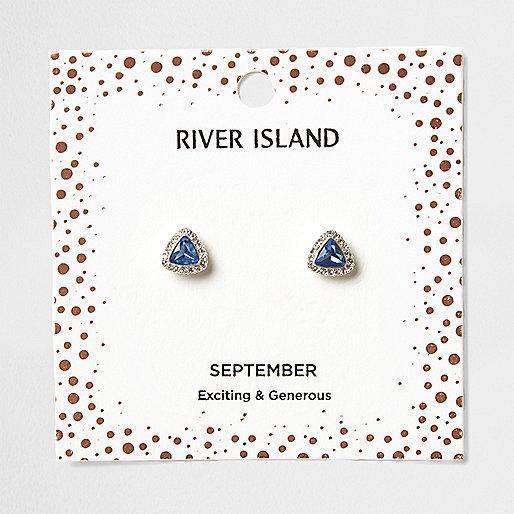 Clous d'oreilles avec pierre de naissance mois de septembre