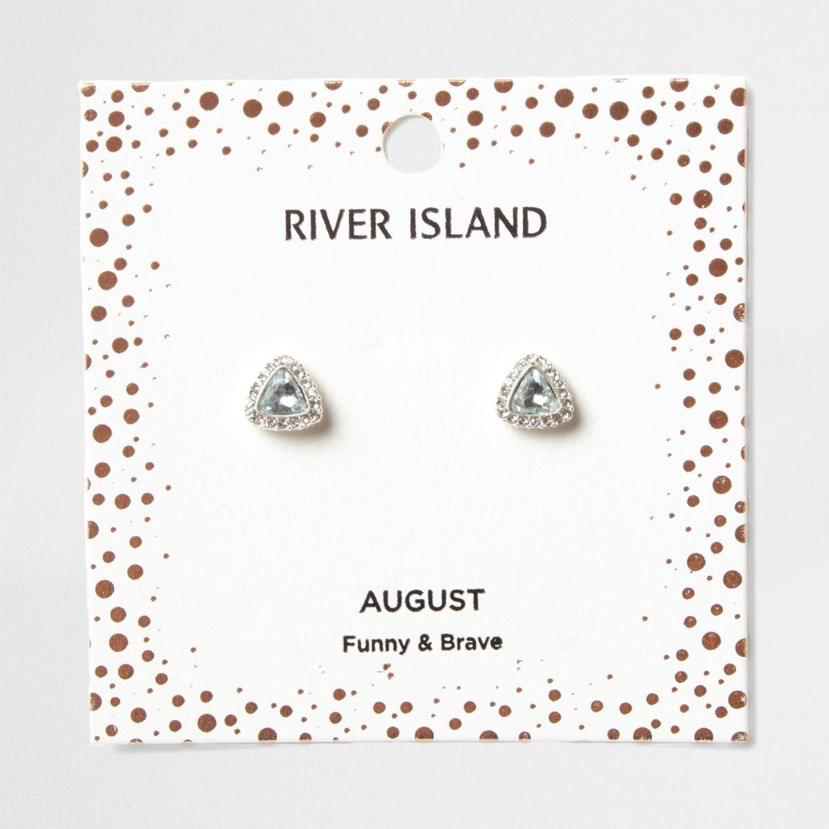 Green gem August birthstone stud earrings