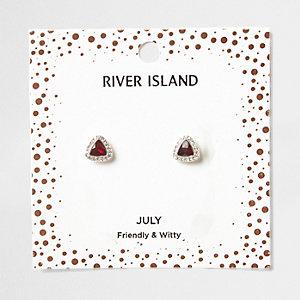 Clous d'oreilles avec pierre de naissance mois de juillet