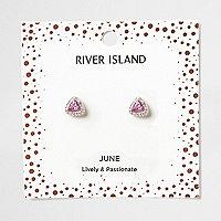 Purple gem June birthstone stud earrings
