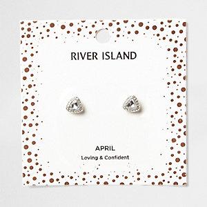 Clous d'oreilles avec pierre de naissance mois d'avril