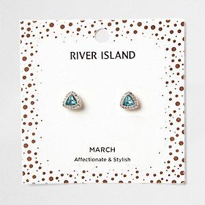 Clous d'oreilles avec pierre de naissance mois de mars