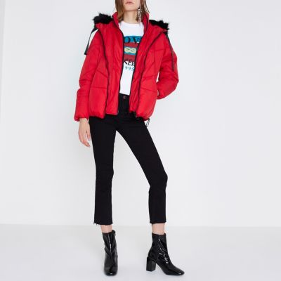Red parka river island