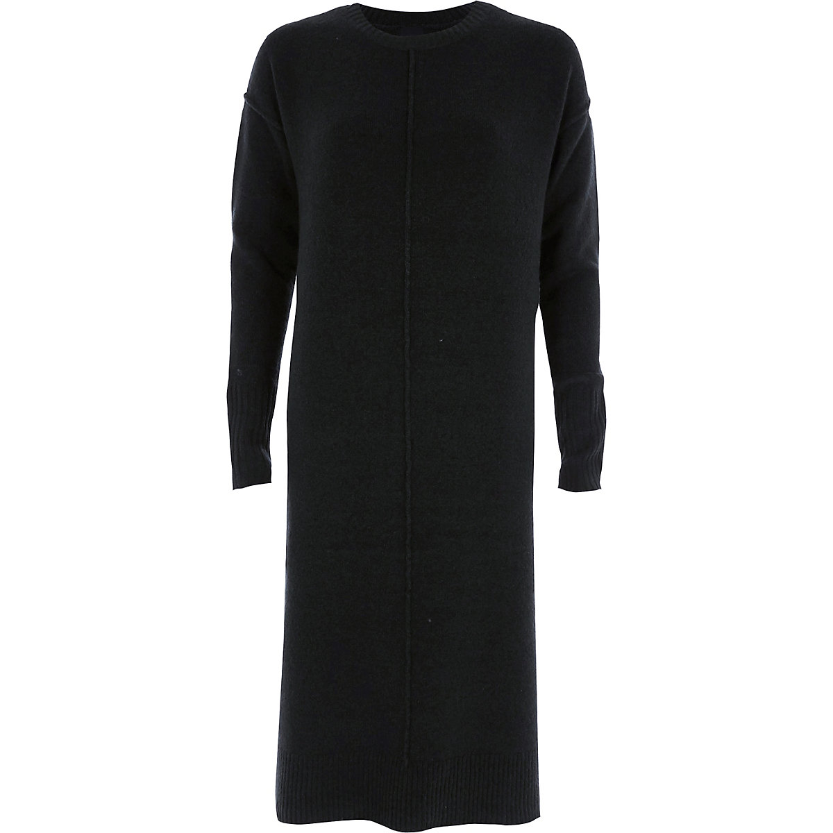 Dark green long sleeve knitted dress