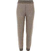 Pantalon de jogging en maille gris foncé métallisé