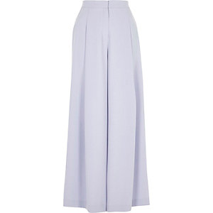Light blue wide leg trousers