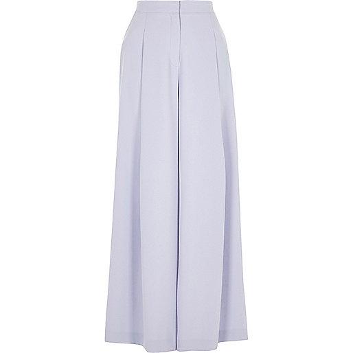 Light blue wide leg trousers