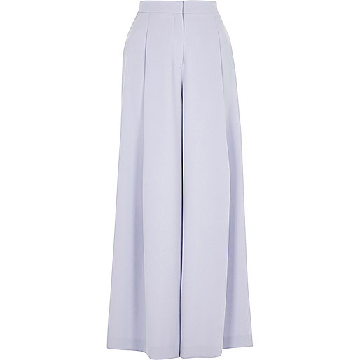 Light blue wide leg pants