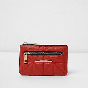 Red quilted mini purse
