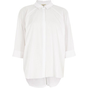 White back pleat shirt
