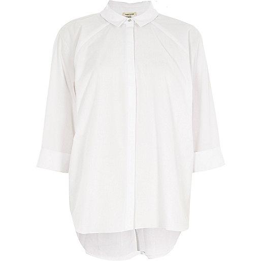 White back pleat shirt