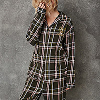 Green Ashish check pyjama shirt