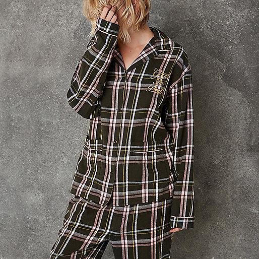 Green Ashish check pajama shirt