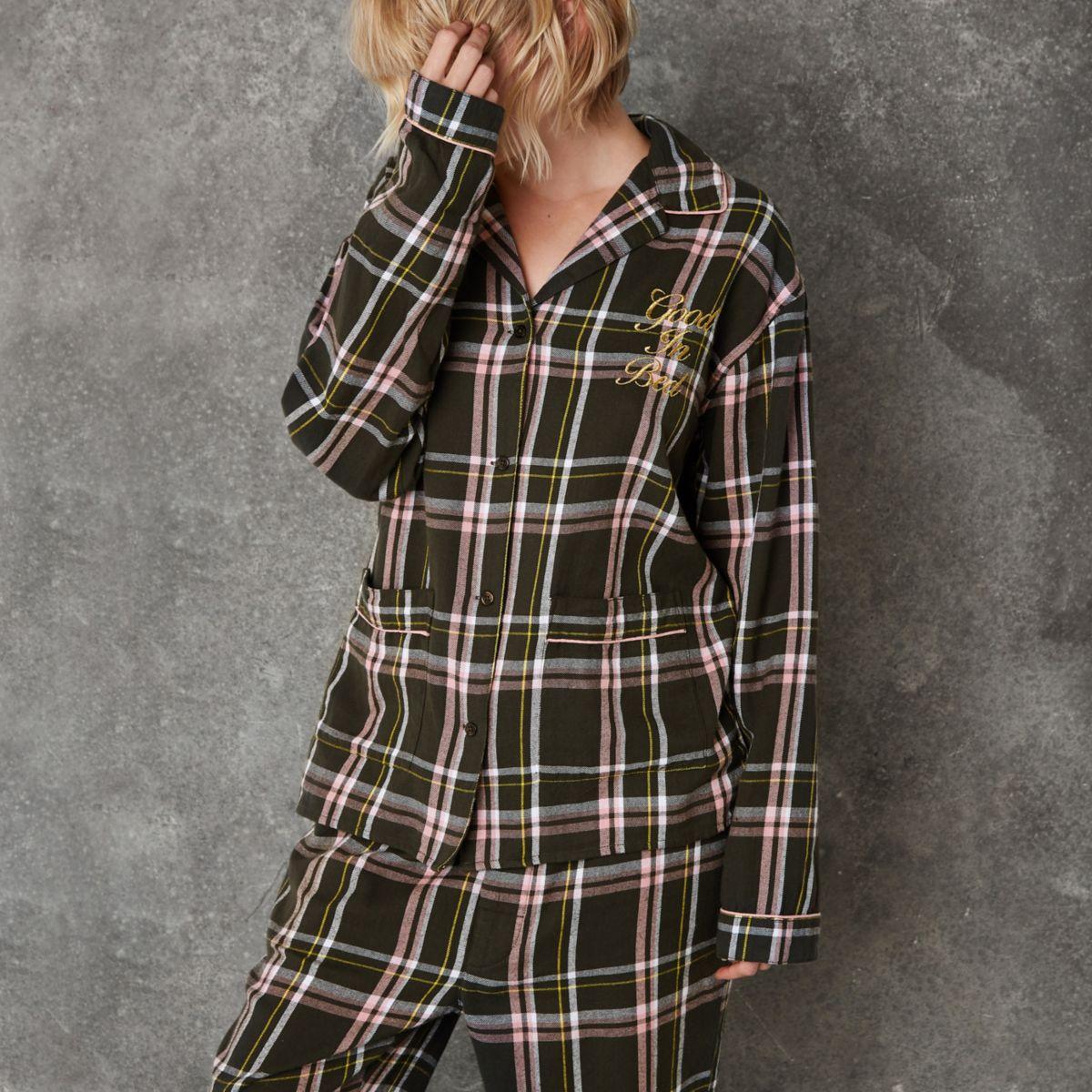 Ashish - Groen geruit pyjamashirt
