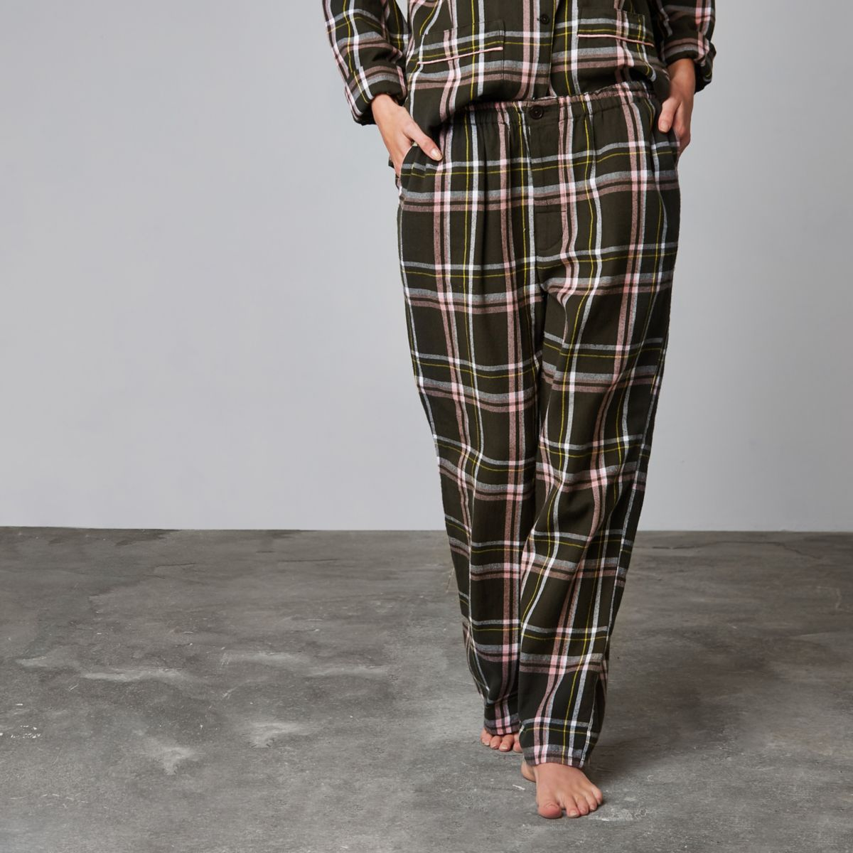 Green Ashish check pyjama trousers