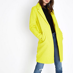 Bright yellow textured coat