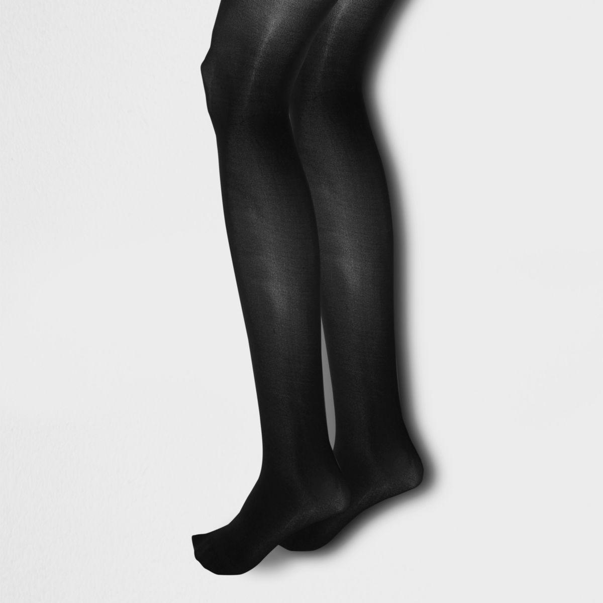 Black 40 denier tights multipack