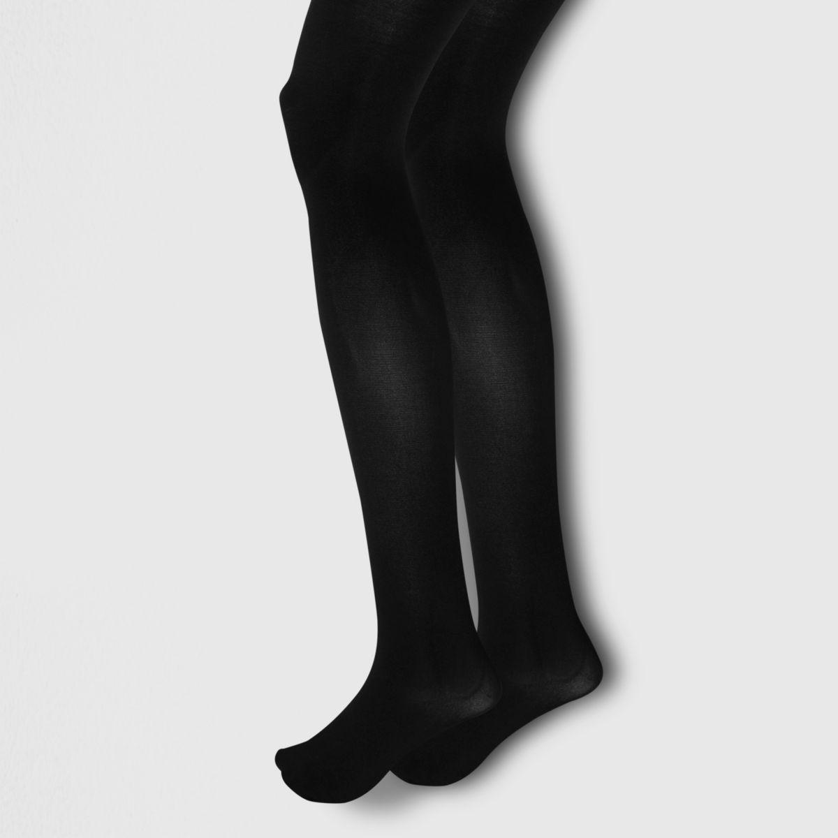 Multipack zwarte ondoorzichtige panty's