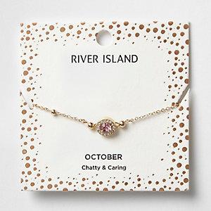 Armband mit rosa Geburtsstein des Monats Oktober
