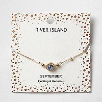 Bracelet avec pierre de naissance mois de septembre