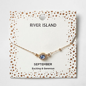 Blue gem September birthstone bracelet