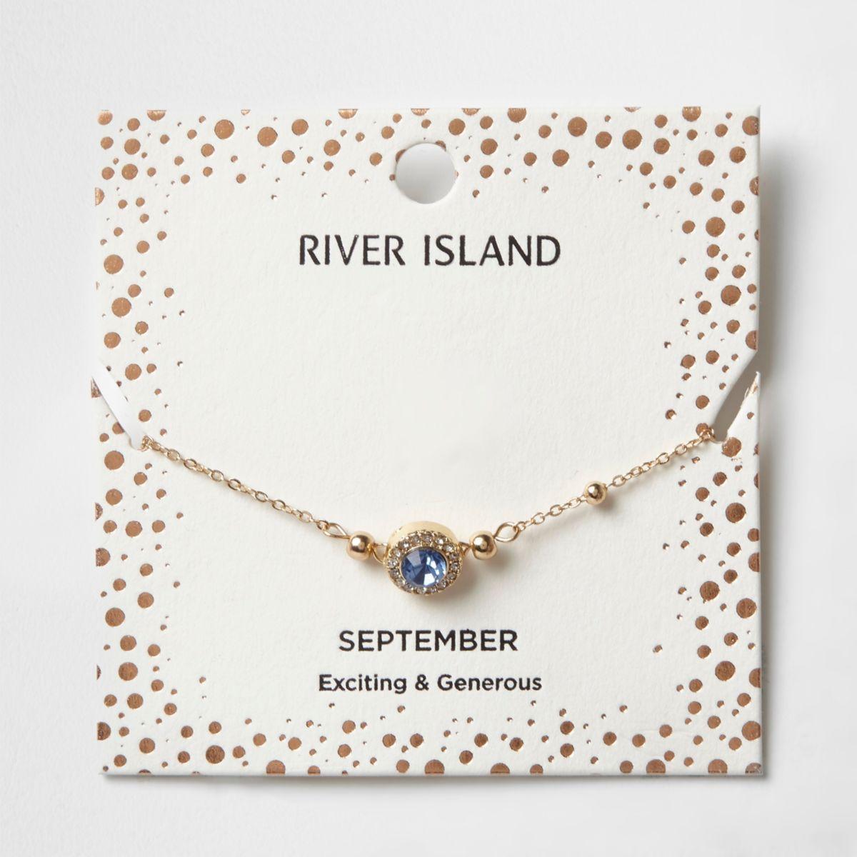 Armband mit blauem Geburtsstein des Monats September