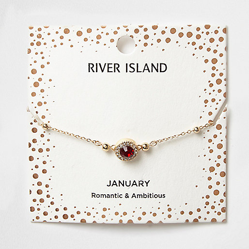 Red gem January birthstone bracelet