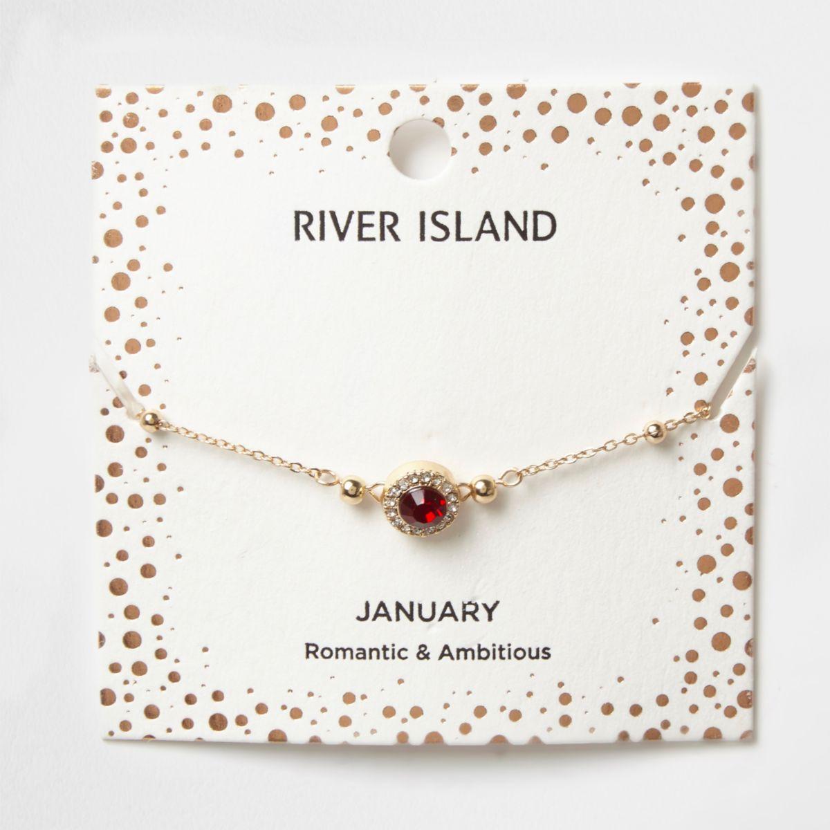 Red gem January birthstone bracelet