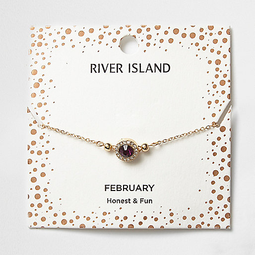 Purple gem February birthstone bracelet