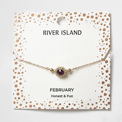 Bracelet avec pierre de naissance mois de février
