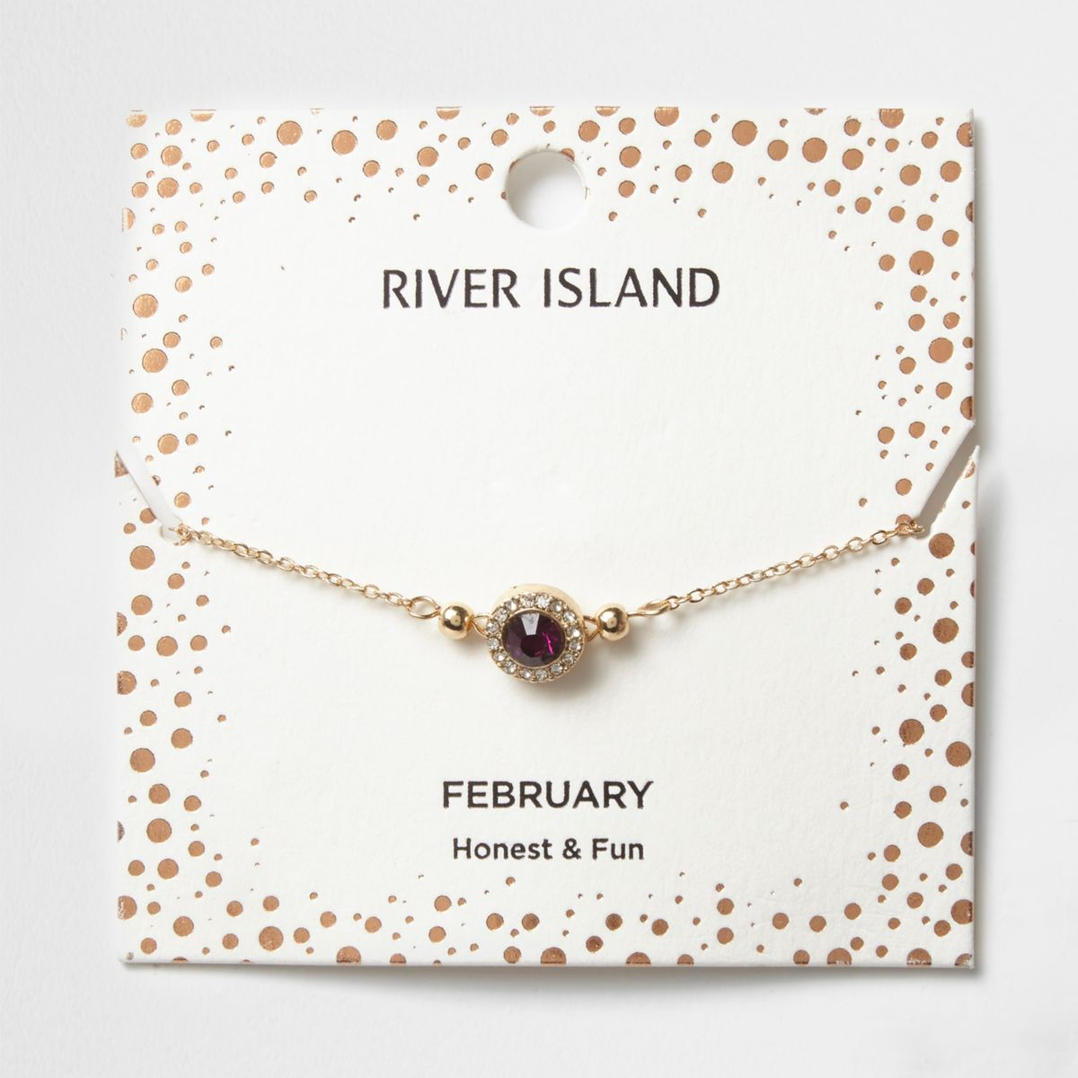Armband mit lilafarbenem Geburtsstein des Monats Februar