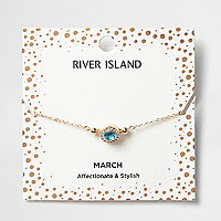 Blue gem March birthstone bracelet