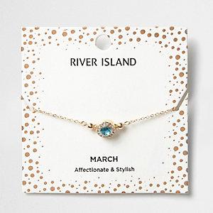 Bracelet avec pierre de naissance mois de mars