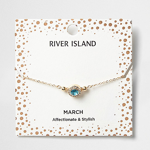 Blue gem March birthstone bracelet
