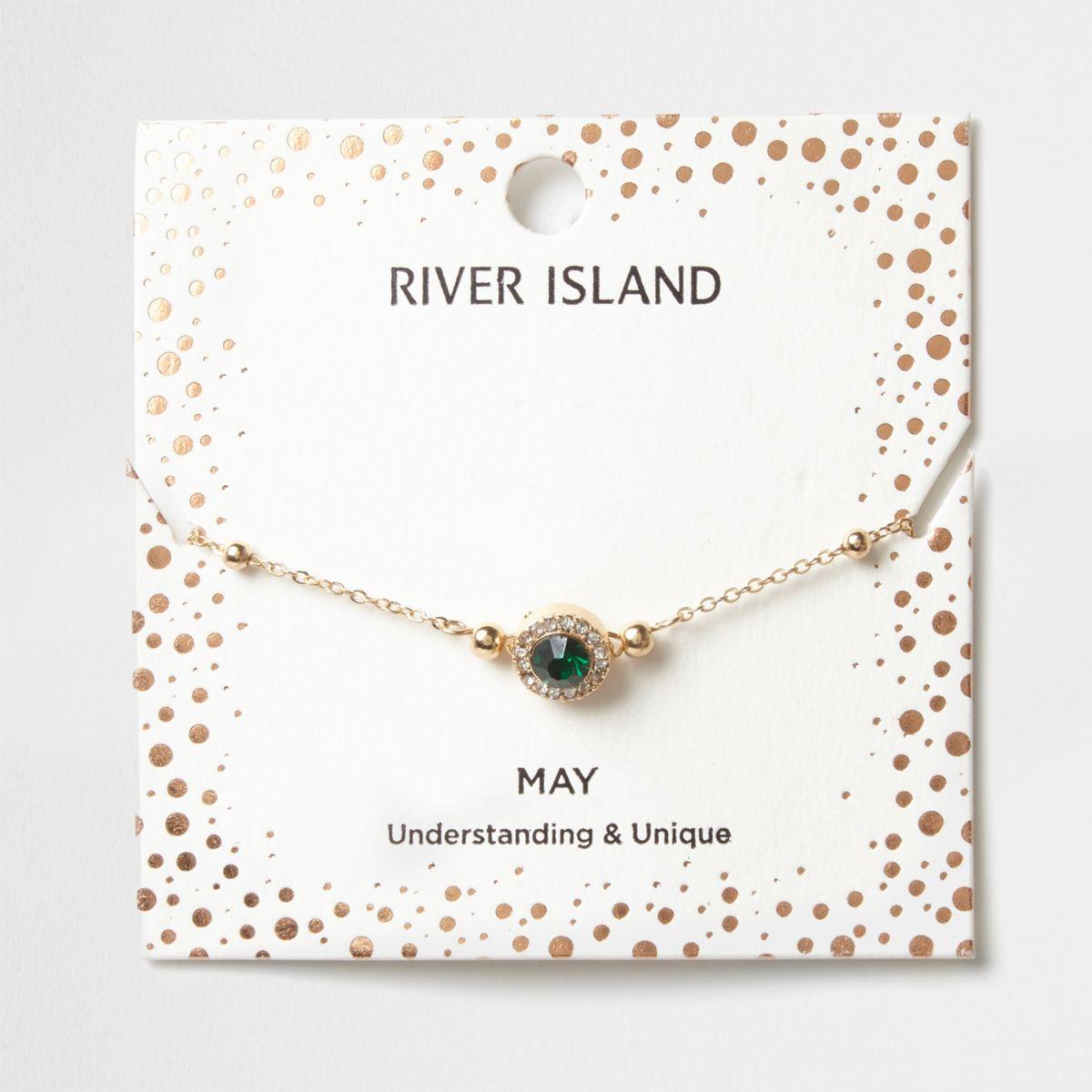 Green gem May birthstone bracelet