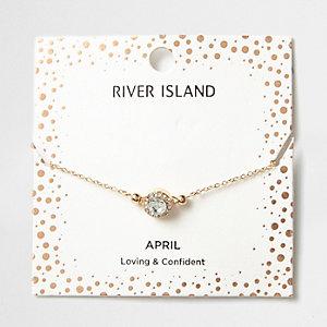 Armband mit weißem Geburtsstein für den Monat April